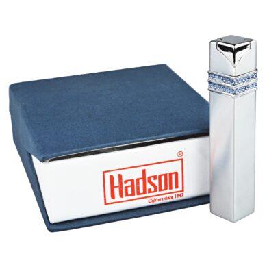 Dámský zapalovač Hadson Square, stříbrný, safíry Swarovski