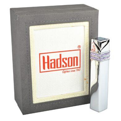 Dámský zapalovač Hadson Square, chrom, fialové kamínky Swarovski