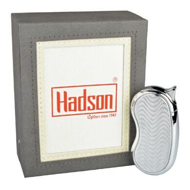 Zapalovač Hadson Bendy, chrom, vlnky