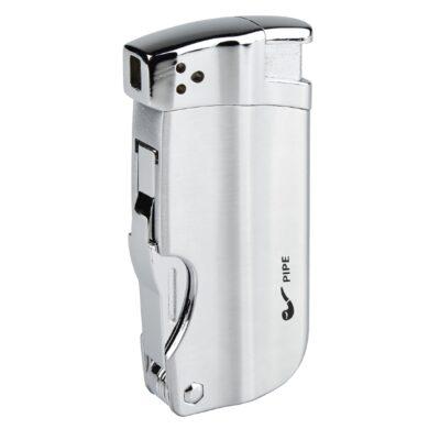 Dýmkový zapalovač Hadson Pipe Multi, chrom(10330)