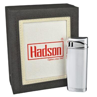 Zapalovač Hadson Solid, chrom-rýhy