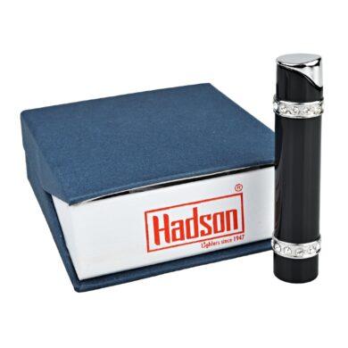 Dámský zapalovač Hadson Lady-S, černý, bílé kamínky Swarovski