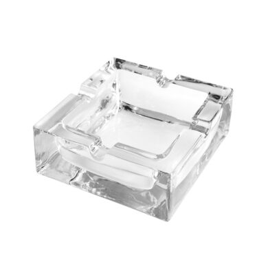Cigaretový popelník skleněný Čtverec(42409)