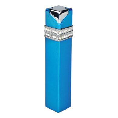 Dámský zapalovač Hadson Square, modrý, bílé kamínky Swarovski