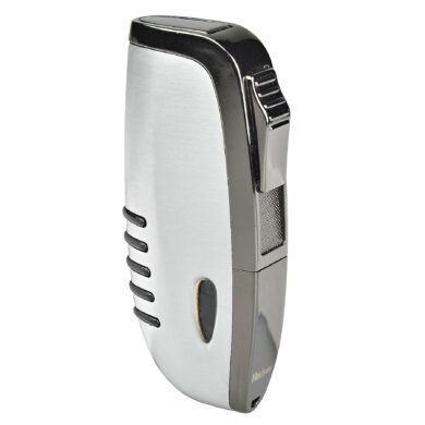Zapalovač Hadson Elegance, broušený chrom, šedý(10249)