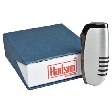 Zapalovač Hadson Elegance, broušený chrom, šedý