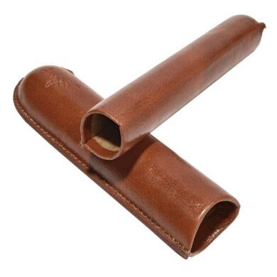 Pouzdro na 1 doutník Angelo, hnědé, koženka, 180mm