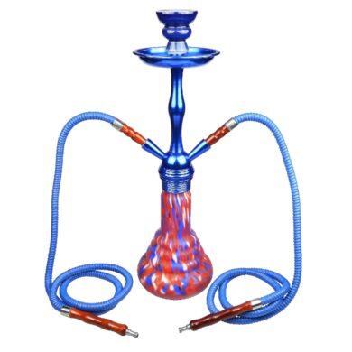Vodní dýmka Luxury 48cm modročervená(30872)
