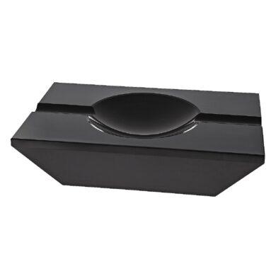 Doutníkový popelník křišťálový, černý