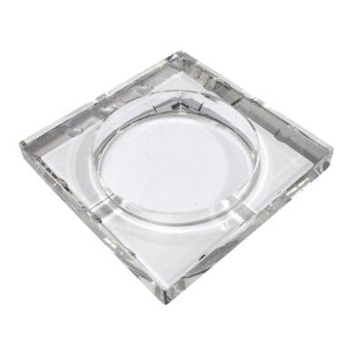 Doutníkový popelník skleněný, hranatý