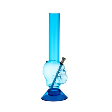 Bong Lebka akryl (plast) 35cm, modrý(344320)