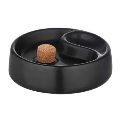 Dýmkový popelník keramický, černý(411000)