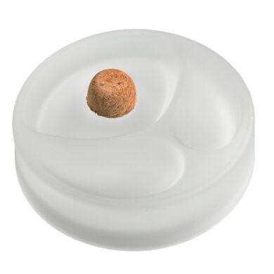 Dýmkový popelník skleněný, bílý(412050)