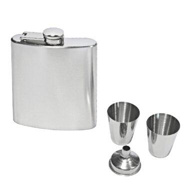Placatka nerezová s pohárky čistá, 200ml(22275)