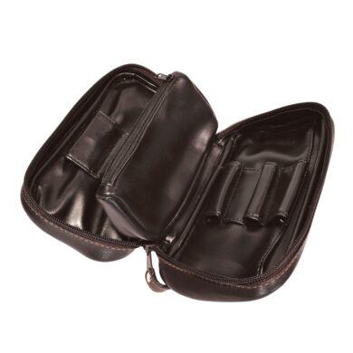 Pouzdro na 2 dýmky Etue Angelo, tmavě hnědé, koženka