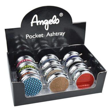 Cigaretový popelník kapesní Angelo, barevný