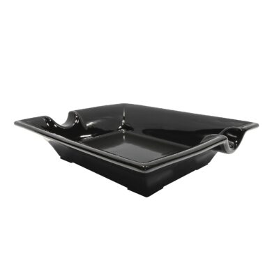 Doutníkový popelník keramický, černý