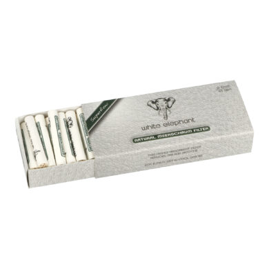 Filtry do dýmky White Elephant Meerschaum 6mm, meršánové, 45ks