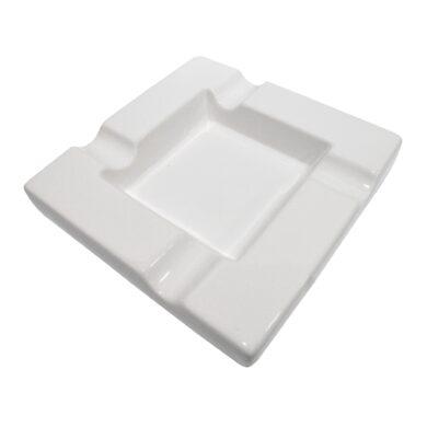 Doutníkový popelník keramický, bílý