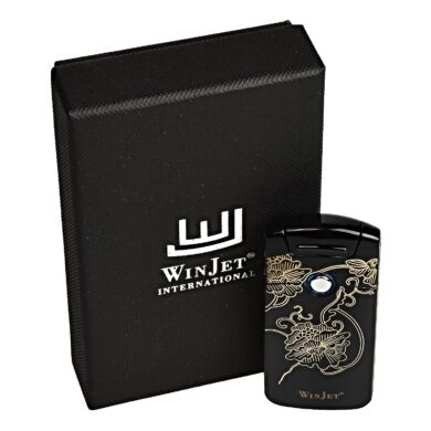 USB zapalovač Winjet Arc Flowers el. oblouk, černý