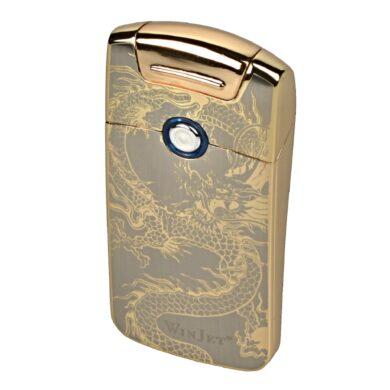 USB zapalovač Winjet Arc Flowers el. oblouk, zlatý