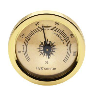 Vlhkoměr zlatý s magnetem, 45mm