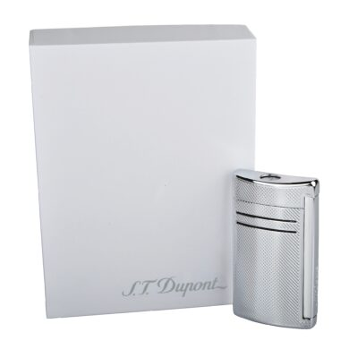 Zapalovač S.T. Dupont Maxijet, chromový squares