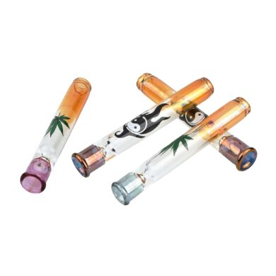 Šlukovka skleněná HM, barevná s obrázkem(HM 047/B)