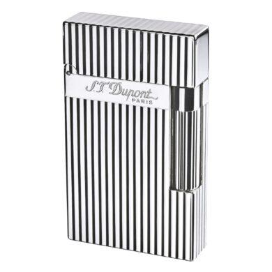 Zapalovač S.T. Dupont Ligne 2 plate stripes, stříbrný