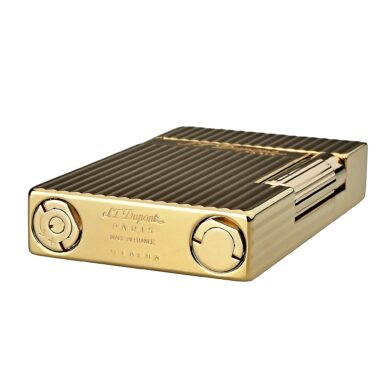 Zapalovač S.T. Dupont Ligne 2, plate stripes, zlatý