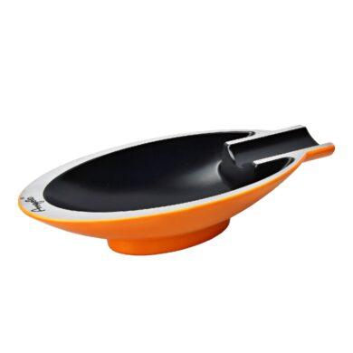 Doutníkový popelník Angelo kovový, oranžový