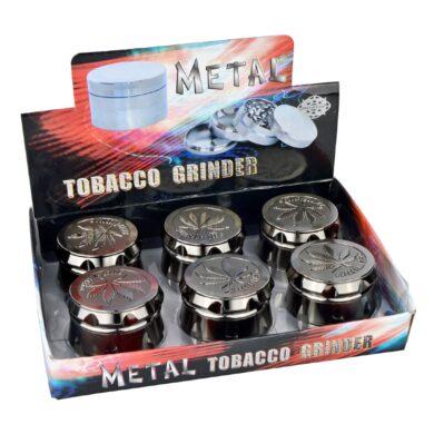 Drtič tabáku kovový Super Heroes Leaf, 6mix