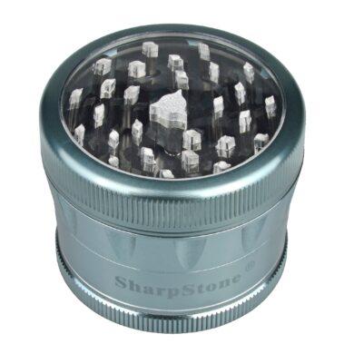 Drtič tabáku ALU Sharp Stone Blue, 62mm(340186)