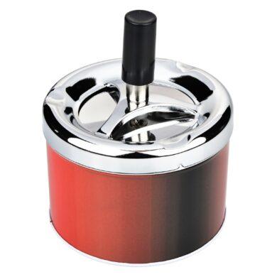 Cigaretový popelník otočný Angelo červený, kovový