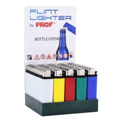 Zapalovač Prof jednorázový s otvírákem(009551)