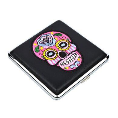 Cigaretové pouzdro Skull černé, 20cig.(801437)