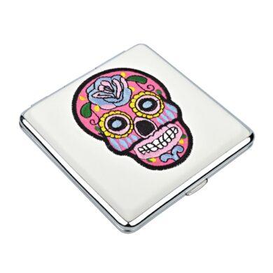 Cigaretové pouzdro Skull bílé, 20cig.(801438)