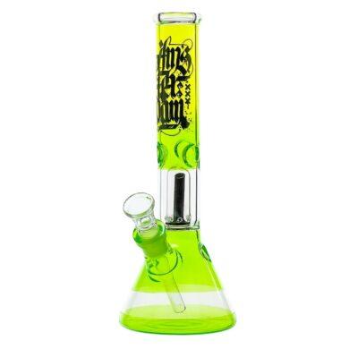 Skleněný bong s perkolací Amsterdam G/Y Ice 30cm zelenožlutý