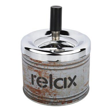 Cigaretový popelník otočný Angelo Relax grey, kovový(400615)