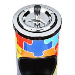 Venkovní popelník - odpadkový koš Puzzle, 60cm(404060)