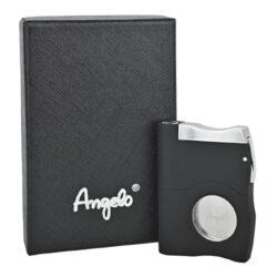 Doutníkový ořezávač a vyštípávač Angelo, černý(501006)