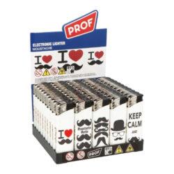 Zapalovač Prof Piezo Love-Plynový zapalovač. Zapalovač je plnitelný. Výška zapalovače 8cm. Prodej pouze po celém balení (displej) 50 ks.
