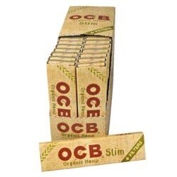 Cigaretové papírky OCB Slim Organic + Filters-Cigaretové papírky OCB Slim Organic +Filters. Papírky jsou vyrobené z ultratenkého konopného papíru. Knížečka obsahuje 32 papírků + 32 filtrů. Rozměry papírku: 45x109mm. Prodej pouze po celém balení (displej) 32ks.