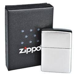 Zapalovač Zippo Satin Chrome, satin(Z 168340)