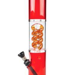 Bong akrylový Bud Boy červený 43cm(03051R)
