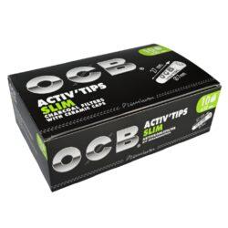 Cigaretové filtry OCB Activ Tips Slim 7mm, charcoal(05600)