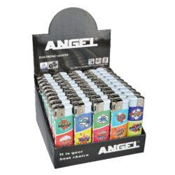 Zapalovač Angel Piezo Crazy-Plynový zapalovač Angel. Zapalovač je plnitelný. Prodej pouze po celém balení (displej) 50 ks. Výška zapalovače 8 cm.