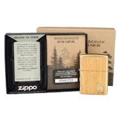 Zapalovač Zippo Woodchuck Flame, broušený(Z 231614)