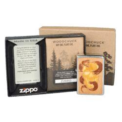Zapalovač Zippo Woodchuck Skull & Snake, patinovaný(Z 255276)