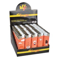 Zapalovače Wildfire Piezo Love Slogans-Plynový zapalovač Widlfire . Zapalovač je plnitelný. Prodej pouze po celém balení (displej) 50 ks. Výška zapalovače 8 cm.